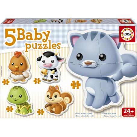 5 PUZZLES ANIMALES BABY