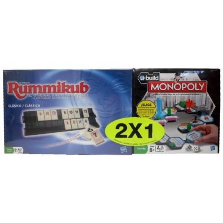 PACK RUMMIKUB + MONOPOLY U-BUILD