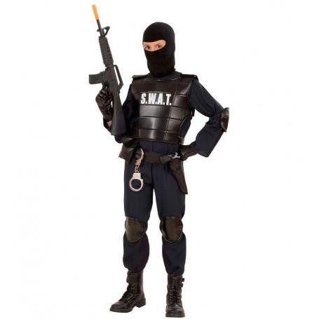 DISFRAZ POLICIA SWAT 8-10 AÑOS
