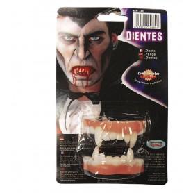 DIENTES VAMPIRO DOBLES LATEX