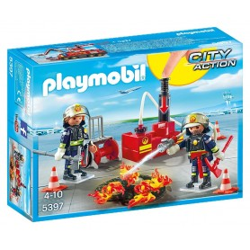 EQUIPO DE BOMBEROS PLAYMOBIL 5397