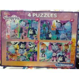 4 PUZZLES VAMPIRINA 2X20 PZAS + 2X60PZAS