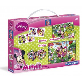MINI EDUKIT MINNIE - CUBOS + DOMINO + PUZZLE