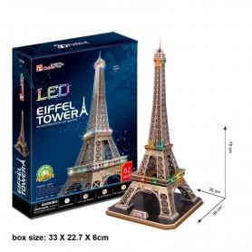 PUZZLE 3D TORRE EIFFEL LEDS 82 PZAS