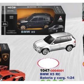 BMW X5 RADIO CONTROL BATERIA Y CARGADOR 1:24