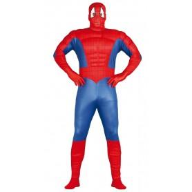 DISFRAZ SUPER HEROE MUSCULOSO SPIDERMAN ADULTO