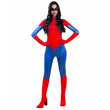 DISFRAZ SUPER HEROINA SPIDERWOMAN ADULTA T. L