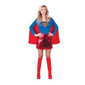 DISFRAZ SUPER HEROINA SUPERWOMAN ADULTA TALLA S