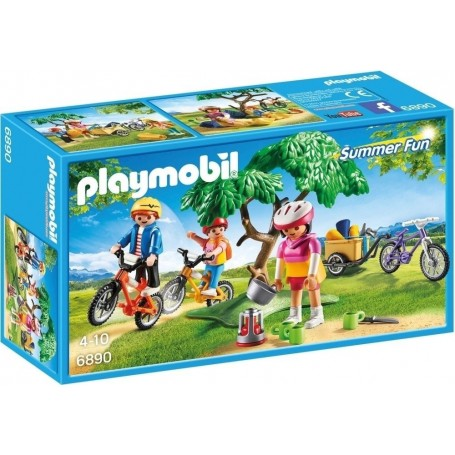 FAMILIA CON BICICLETAS PLAYMOBIL 6890