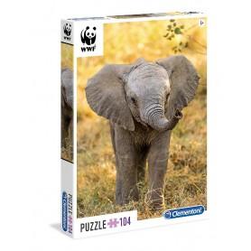 PUZZLE 104 PIEZAS WWF LITTLE ELEPHANT