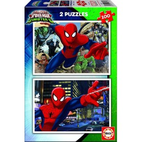 PUZZLE 2X100 SPIDER-MAN VS SINISTER 6