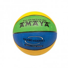 BALON MINI-BASKET Nº 3 CAUCHO TRICOLOR BALONCESTO