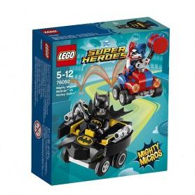 SUPER HEROES  MIGHTY MICROS BATMAN VS HARLEY QUINN 76092