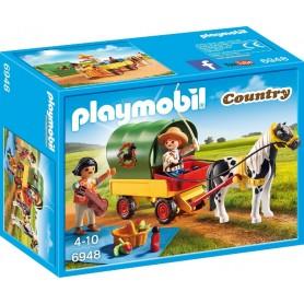 PICNIC CON PONI Y CARRO PLAYMOBIL 6948