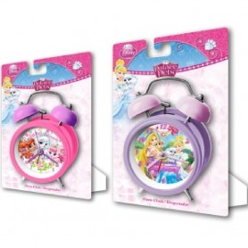 DESPERTADOR RELOJ DISNEY PRINCESS PALACE PETS 9 CM