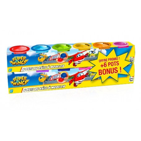 SUPER WINGS - 12 BOTES DE PLASTILINA