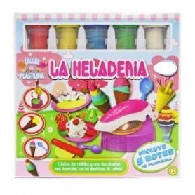 SET PLASTILINA HELADERIA + 5 BOTES PLASTILINA