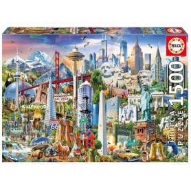 PUZZLE 1500 SIMBOLOS DE NORTE-AMERICA