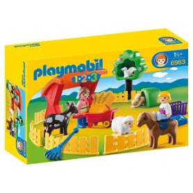 1.2.3 RECINTO DE ANIMALES PLAYMOBIL 6963