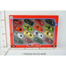 16 COCHES METAL 1:60
