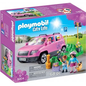 COCHE FAMILIAR CON PARKING PLAYMOBIL 9404