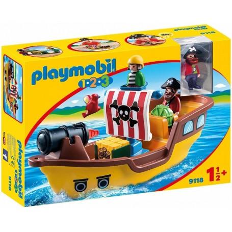 1.2.3 BARCO PIRATA  PLAYMOBIL 9118