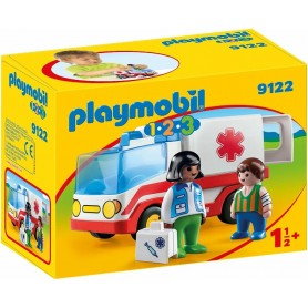 1.2.3 AMBULANCIA  PLAYMOBIL 9122
