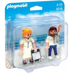 DUO PACK AZAFATA Y PILOTO  PLAYMOBIL 9216