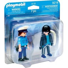 DUO PACK POLICÍA Y LADRÓN  PLAYMOBIL 9218