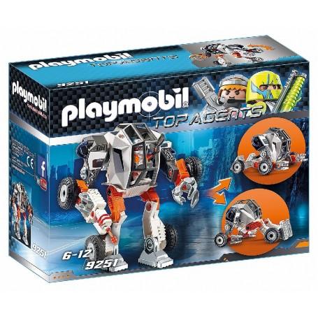 AGENTE GENERAL CON ROBOT  PLAYMOBIL 9251