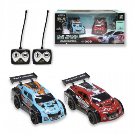 DOS COCHES R/C RALLY MONSTER ESCALA 1:26