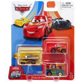 PACK 3 MINI RACERS CARS (RAMON,MATE,MCQUEEN)