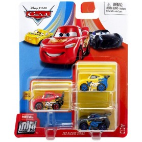 PACK 3 MINI RACERS CARS (JACKSON,MCQUEEN,CRUZ)