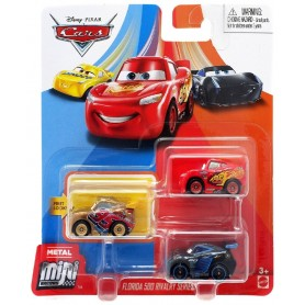 PACK 3 MINI RACERS CARS (CRUZ,MCQUEEN,JACKSON)