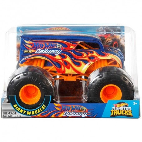 MONSTER TRUCKS HOT WHEELS MT DAIRY DELIVERY 1:24