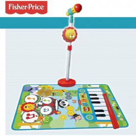 FISHER PRICE - MICRO DE PIE, ALFOMBRA PIANO Y BAT.